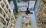 Panoramic view of the Pleiades bookshop in Athens